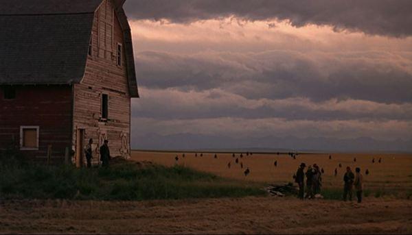 Days of Heaven barn field